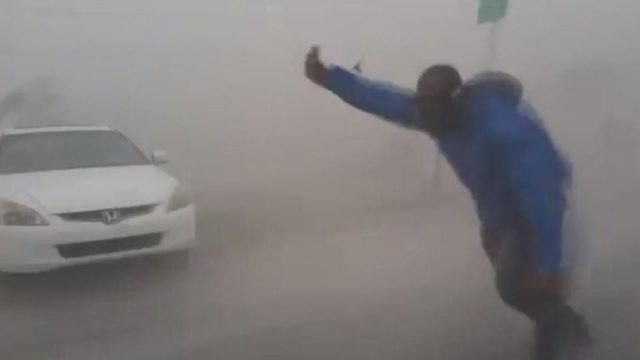 Extreme Meteorologist Leaves His Car To Take Hurricane Irma Head On