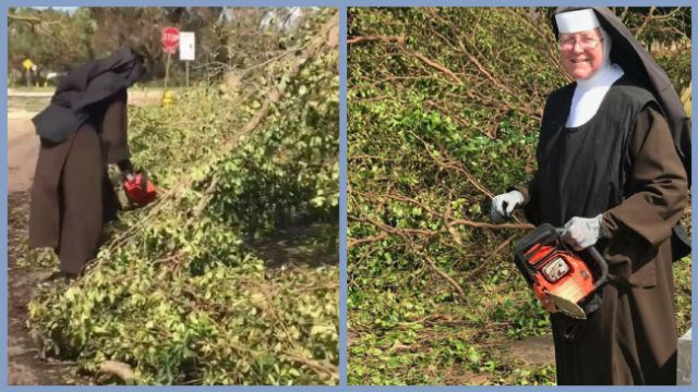 Chainsaw Wielding Nun Goes Viral For Hurricane Irma Clean Up Efforts