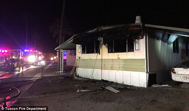 This house. He used fire to fight the spiders under this house. Credit: Tucson Fire Department