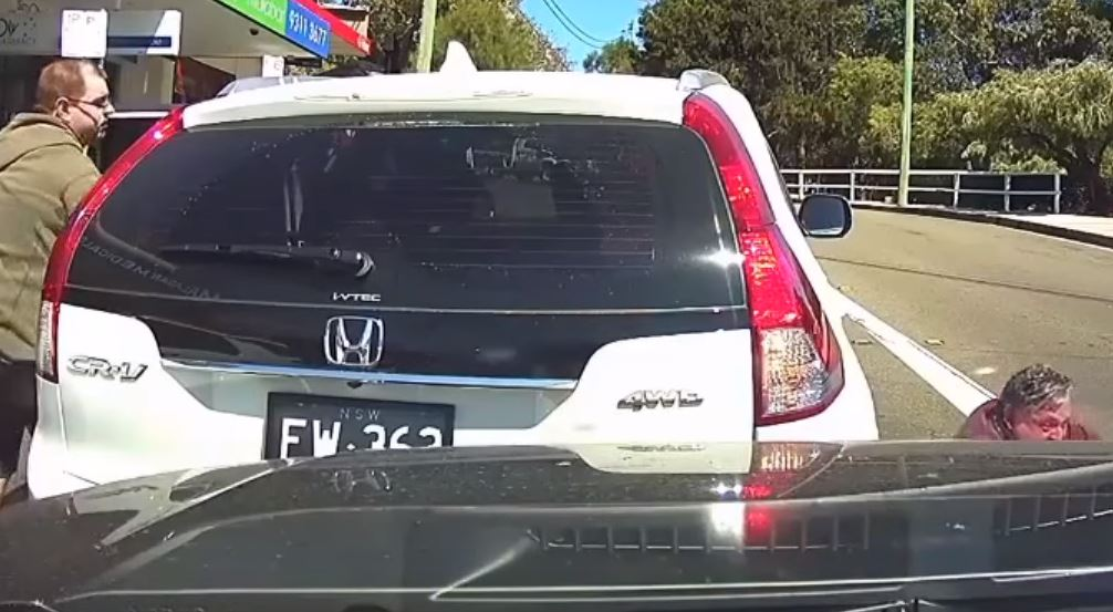 """""""Dad, you forgot your beer!"""" Credit: Dash Cam Owners Australia"""