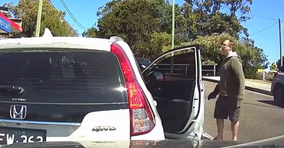 """""""It's all right, Dad. I saved your thong."""" Credit: Dash Cam Owners Australia"""