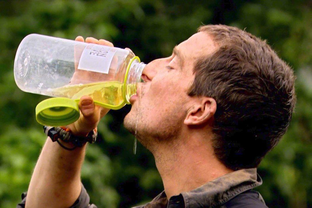 I hope that's lemonade. Credit: Planet News/Bear Grylls