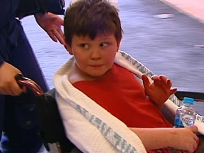 """Little Dylan. Truly a tough little bugger."" Credit: Seven News."