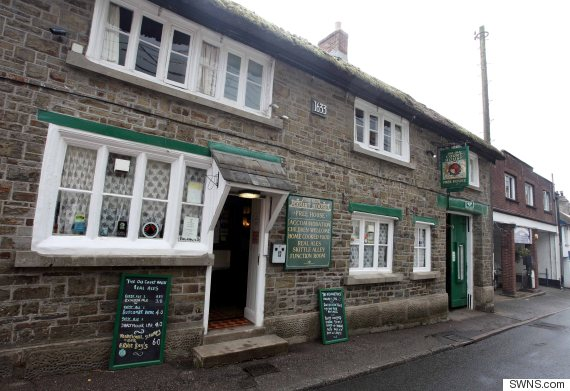 The Old Courthouse Inn in Chulmleigh, North Devon, where the brewhaha went down.  Credit: SWNS