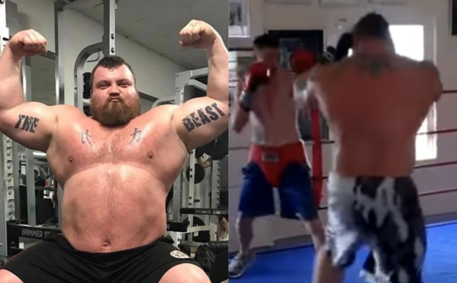 400lbs Current World's Strongest Man Steps Into The Ring With 140lb Pro Boxer