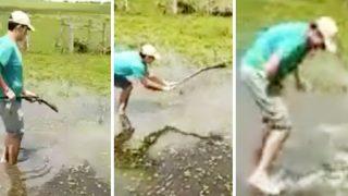 Drunk Bloke Shoots Himself in the D*ck When Hassling a Gator
