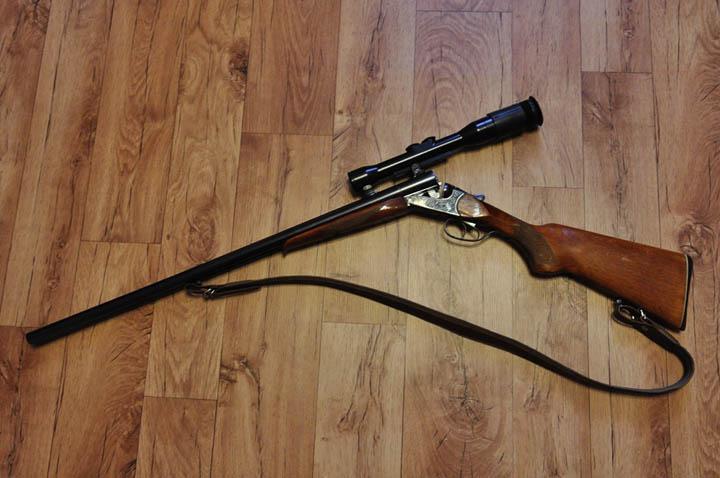 The bear's new shotgun. Credit: MilitaryArms, Okhota Rybalka Kirov