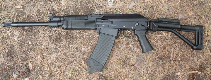And his new assault rifle. Credit: MilitaryArms, Okhota Rybalka Kirov