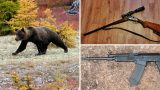 Russian Bear Currently on the Loose Carrying Two Guns Stolen From Hunter