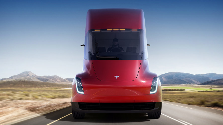 Elon Musk and Tesla Unveil Slick New Electric Semi-Truck