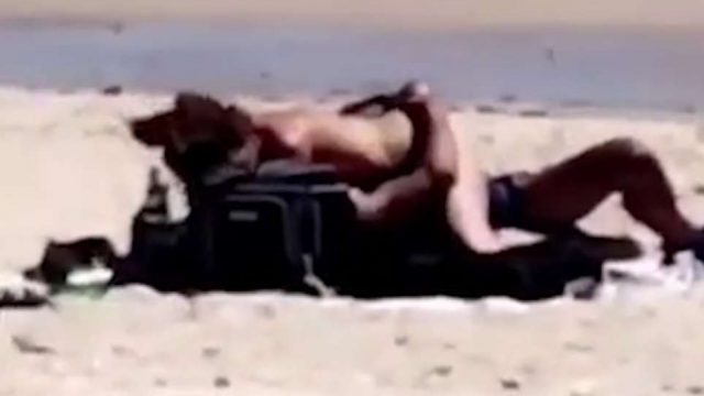 No Modesty Tent Needed – Aussie Couple's Romp On Beach Caught On Video