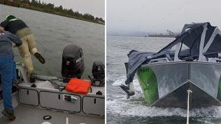 Fisherman Abandon Ship In Life Or Death Crash