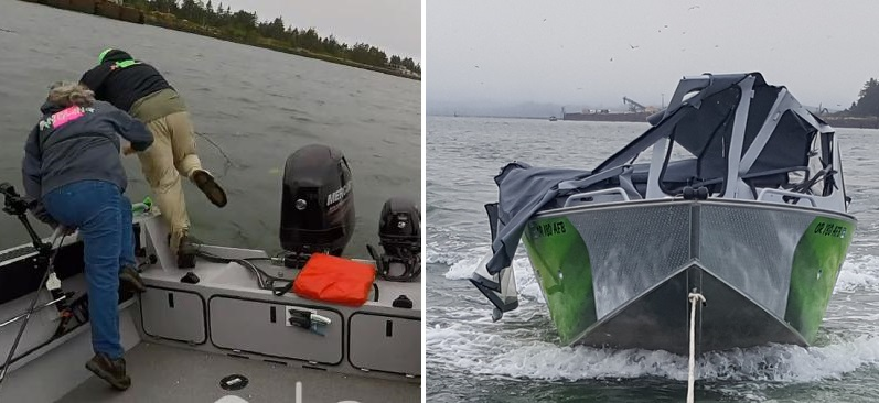 Fisherman Abandon Ship In Life Or Death Crash