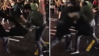 Bouncer Knocks Out Two Blokes With Single Punches During Insane Brawl