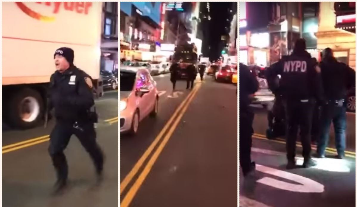 Despite his injuries the tough b*****d gives chase but is left behind while police can only look on. Credit: Johnnie Ochocinco/Youtube