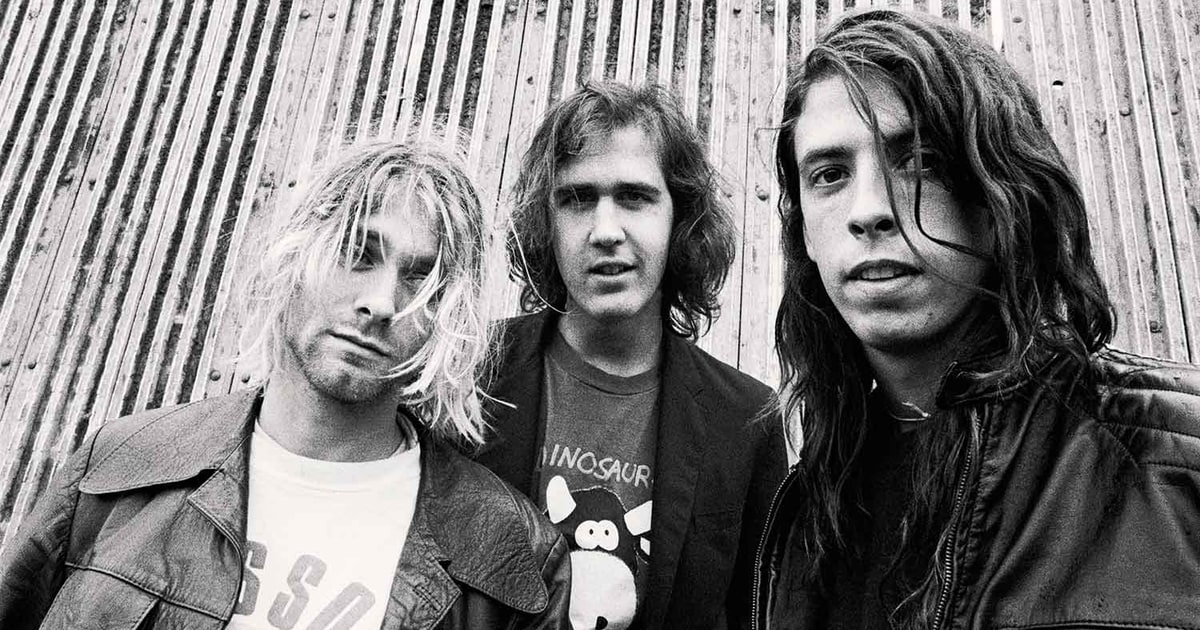 Nirvana during the recording of Nevermind (the Smells Like Teen Spirit Album). Credit: Rolling Stone