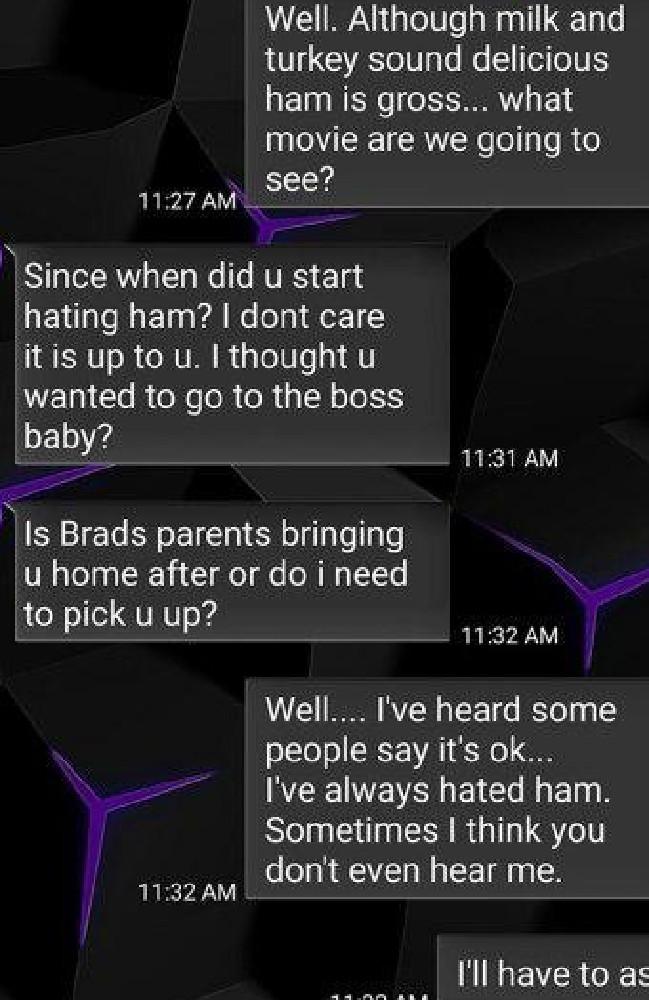 Mum's right. Who hates ham? Credit: Imgur