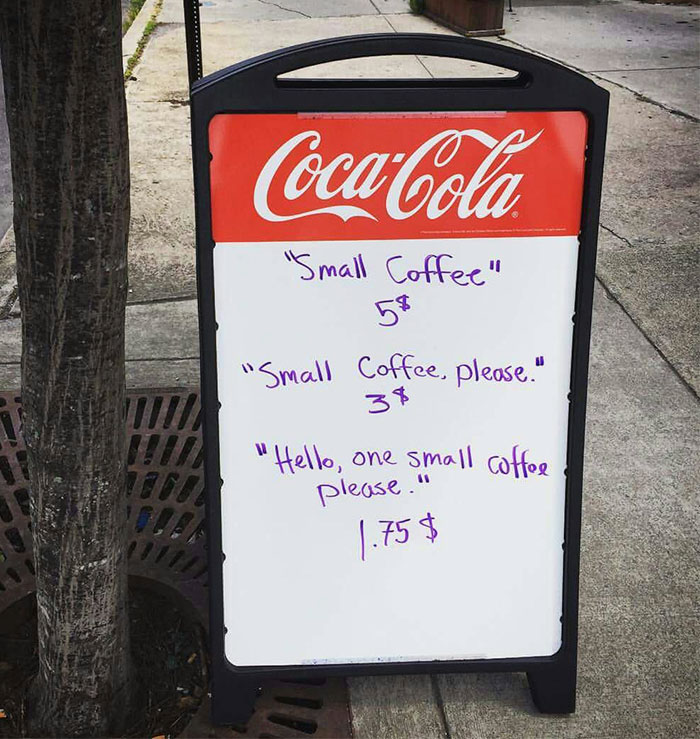 F*** we get ripped off for coffee in Ozzyland. Credit: Austin Simms