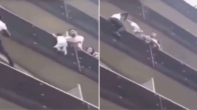 Parisian Spiderman climbs 4 storeys in seconds to save 4-year-old dangling from balcony
