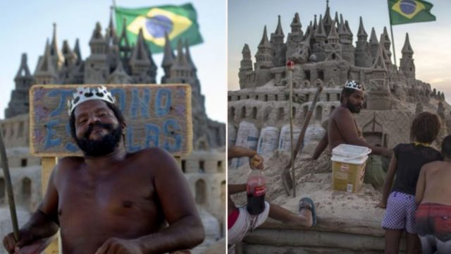 Bloke lives in a real-life sandcastle and avoids paying rent