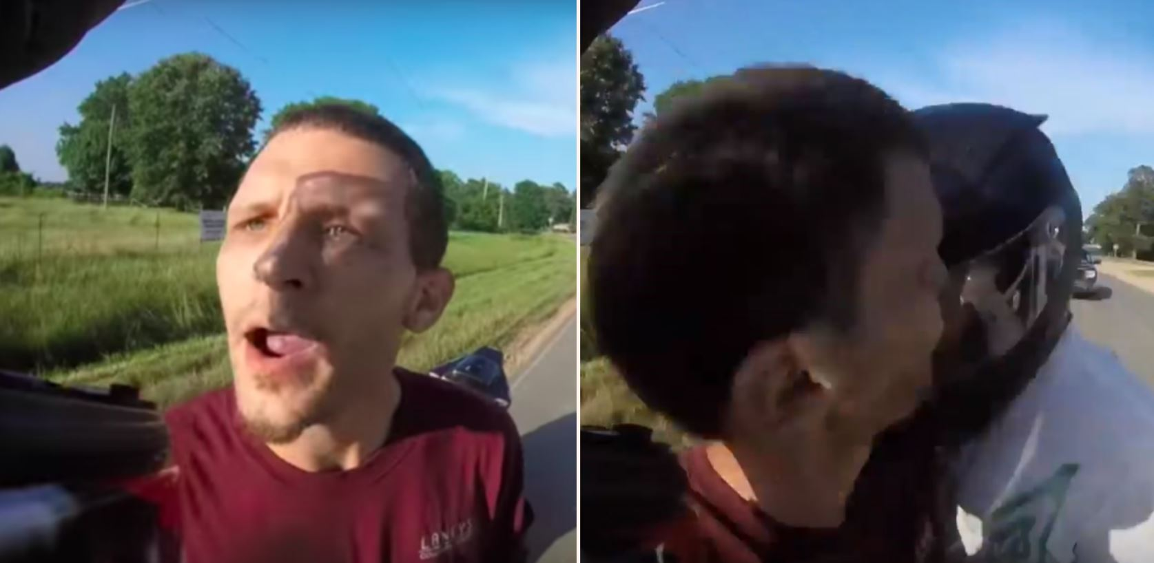 Angry Biker Headbutts Driver Who Tried To Cut Off His Mate