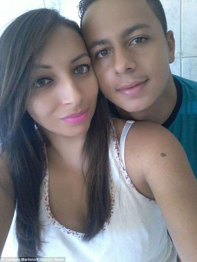 Jucilene and her boyfriend. Credit: Jucilene Marinho/Focus On News