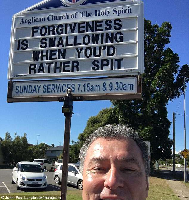 Even a local Member of Parliament thought the sign was hilarious. Credit: John-Paul Langbroek