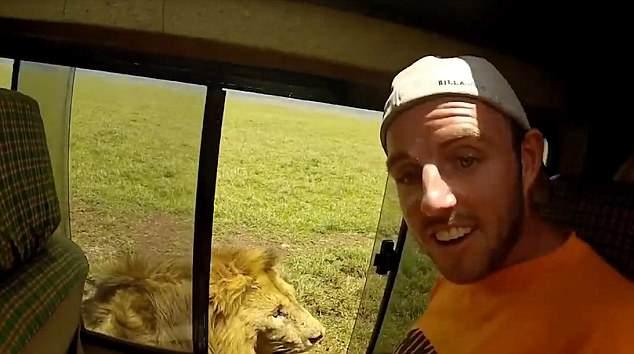 """See? He likes it."" Credit: YouTube/Wildlife Sightings"