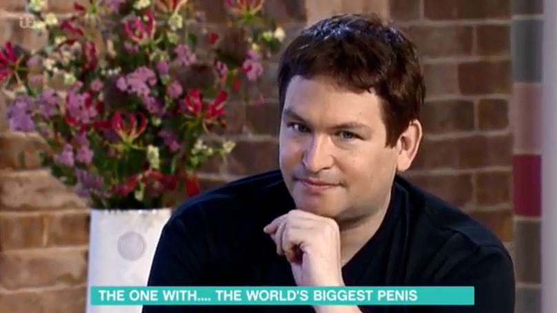 No wonder he looks smug. Credit: ITV/This Morning