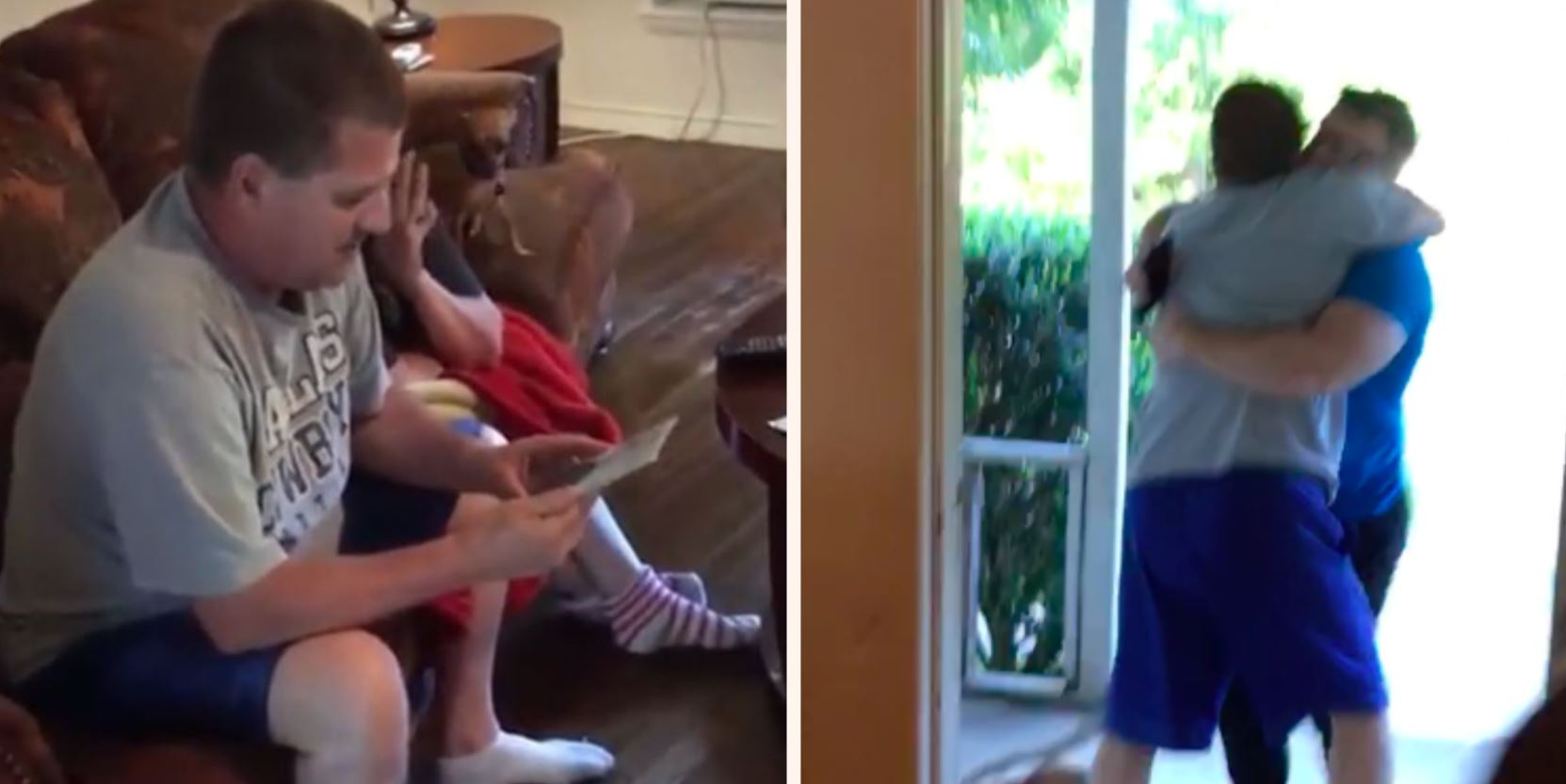 Dad's incredible reaction to son's surprise return from the military