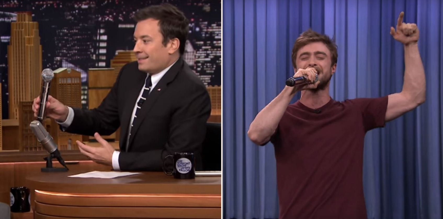 "Harry Potter raps the entire ""Alphabet Aerobics"" on Jimmy Fallon"