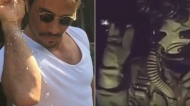 Jet fighter does salt bae impressions after bombing ISIS