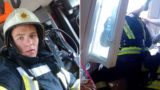 Legendary fireman catches suicidal woman in mid air as she plummets