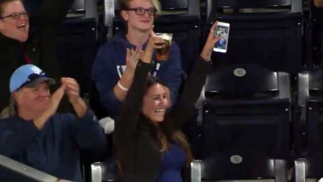 Legendary Sheila Catches Foul Ball In Her Beer At The Baseball
