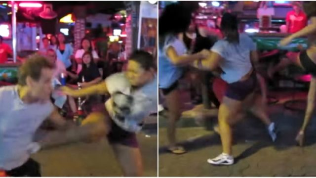 Tourist gropes the locals in Thailand – learns his lesson the hard way