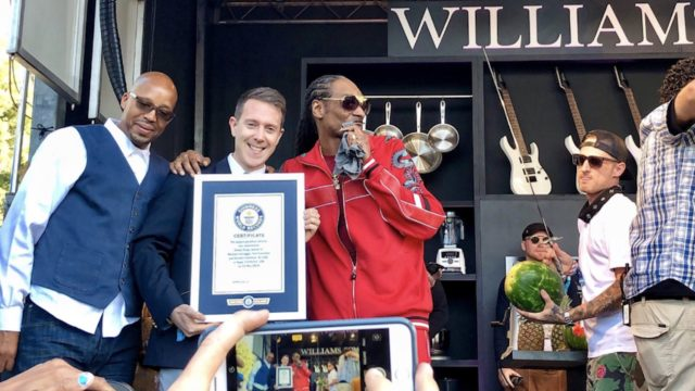 Snoop Dogg Breaks World Record For Largest Gin n Juice