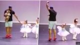 Daughter Suffers Stage Fright During Ballet Performance But Dad Comes To The Rescue