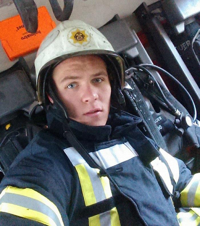 Tomass Jaunzems. The legend himself. Credit: Latvian Fire Service/Facebook