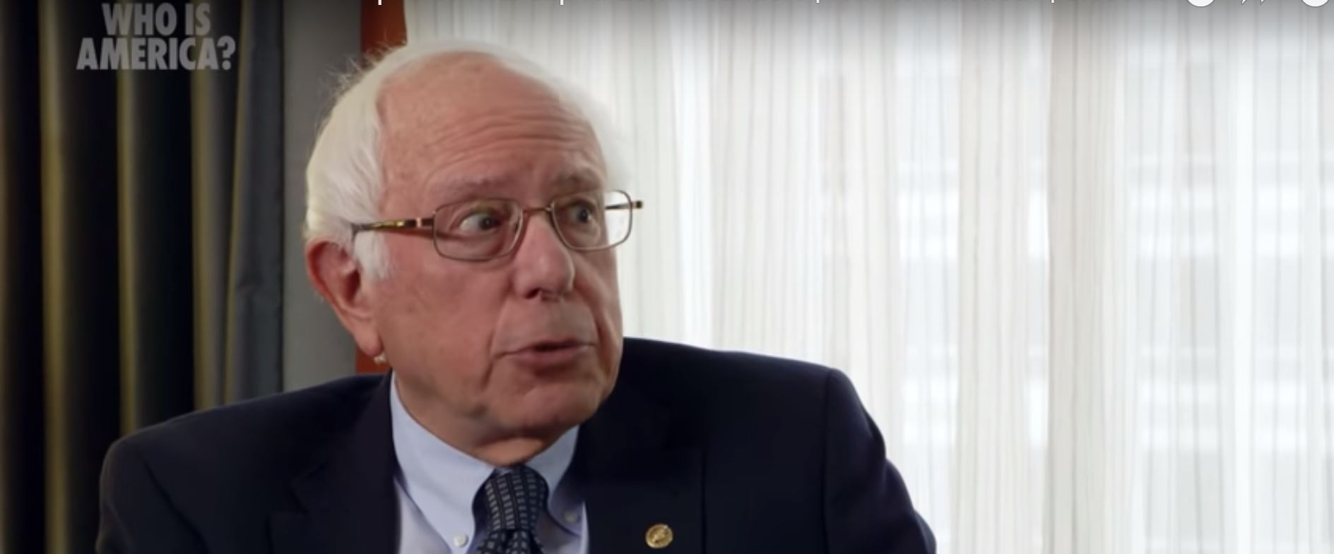 Sanders pulling a face that definitely doesn't suggest 'what the f**k?' Credit: Showtime