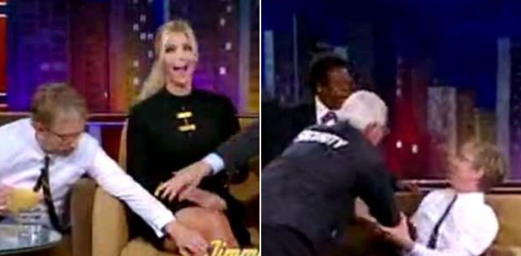 The moment Andy Dick had to be removed from The Jimmy Kimmel Show for groping Ivanka Trump