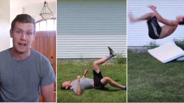Legend bloke teaches himself to backflip in 6 hours