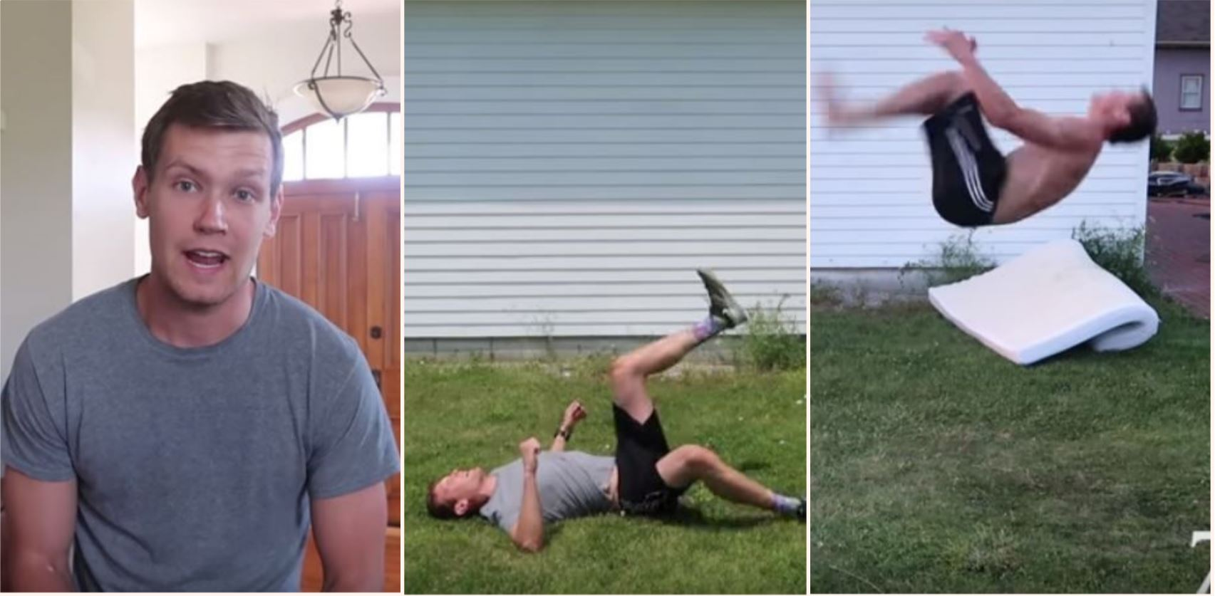 Legend bloke teaches himself to backflip in 6 hours