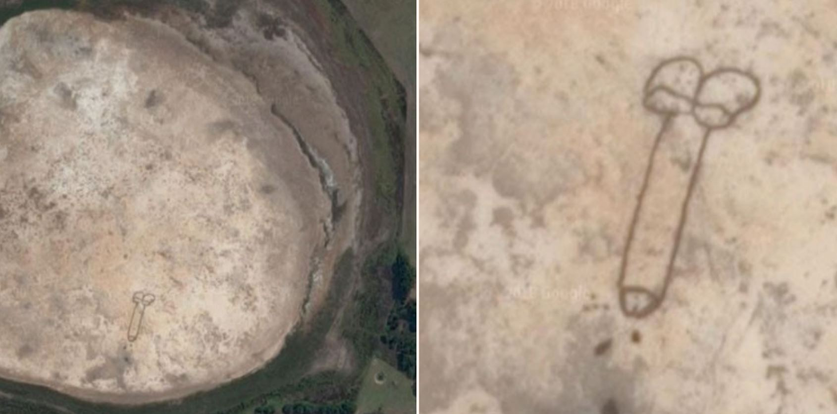 Someone drew a penis so big it can be seen from space