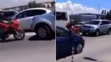 Biker brilliantly confronts SUV driver who tries to cut traffic