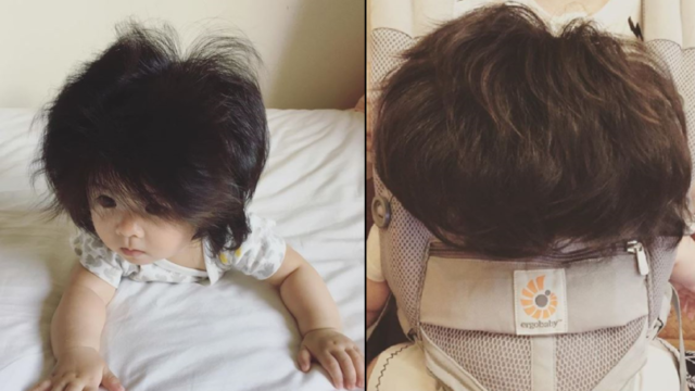 Seven month old baby has amassed 40,000 Instagram fans for her mop of hair