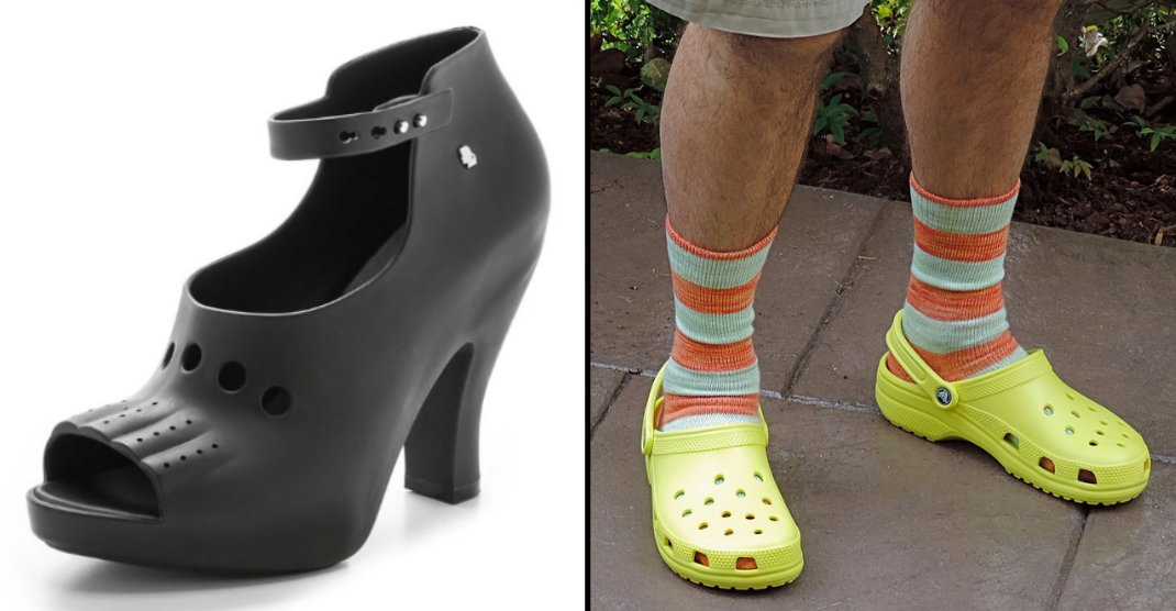 bf340e7137a0b There is now a range of high heel crocs and they are outrageously expensive