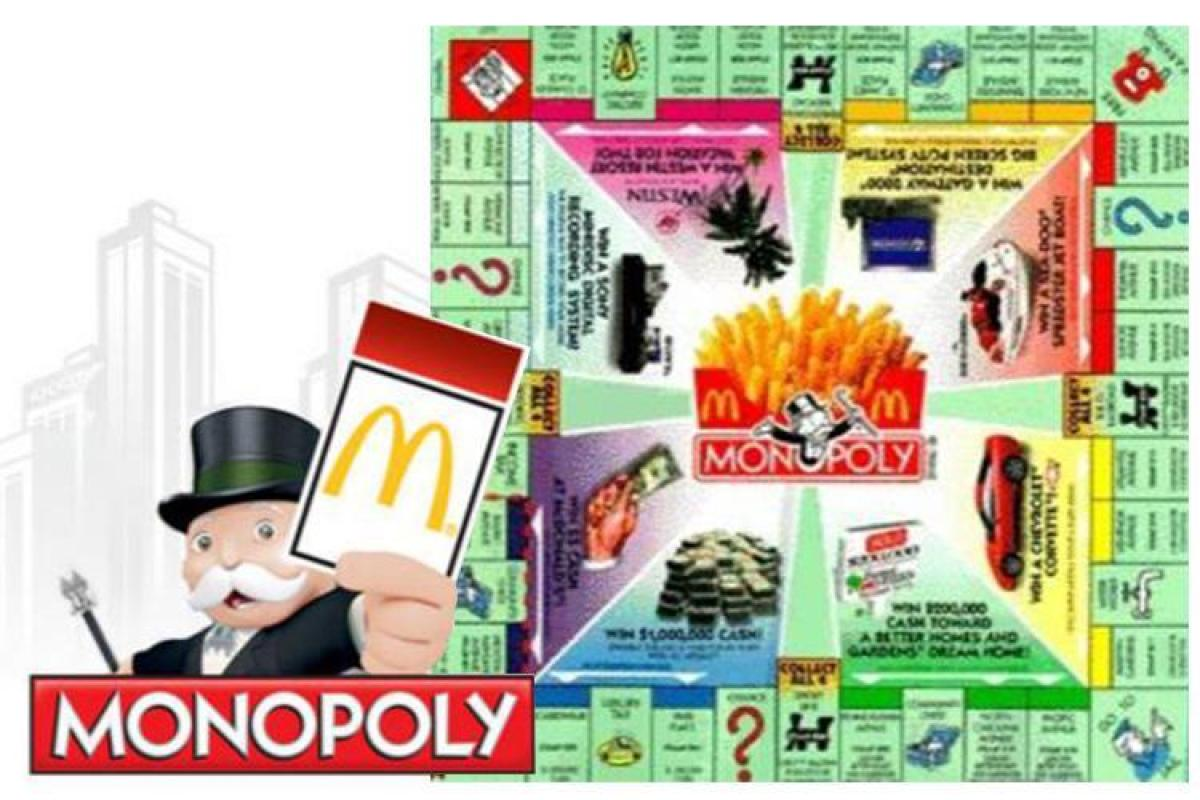 Chance Card! Go directly to jail. Do not pass go. Credit: McDonalds.