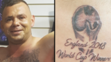Pommy soccer fan who got 'World Cup Winners' tattoo early speaks out after Croatia lost