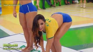This is how the sheilas play Twister in Brazil
