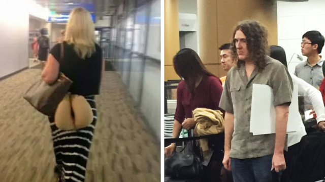 20+ times people had to look twice to understand what they were seeing at the airport